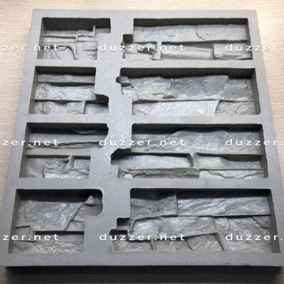 Сoncrete stone mold «Rock slate» Angle of compound