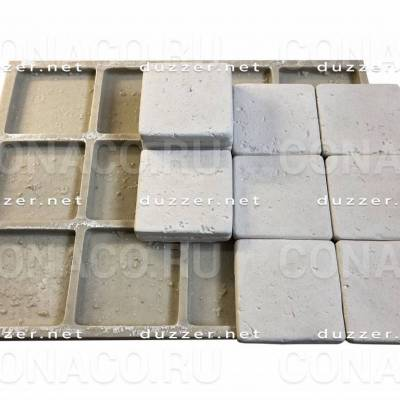 Сoncrete stone mold «Travertin 10х10х1 cm»