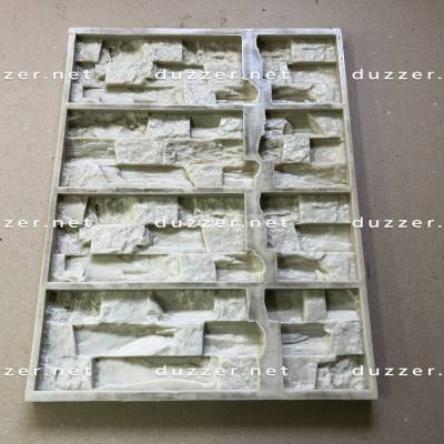 Сoncrete stone mold «Cimmerian shale panel» Composite angle