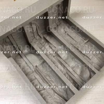 Сoncrete stone mold «Thin stratum» Moulded corner