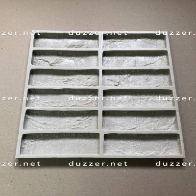 Rubber brick mold «Factory brick S-2cm»