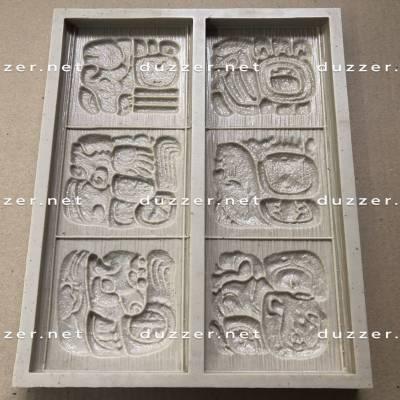 Polyurethane mold Mayan Letters