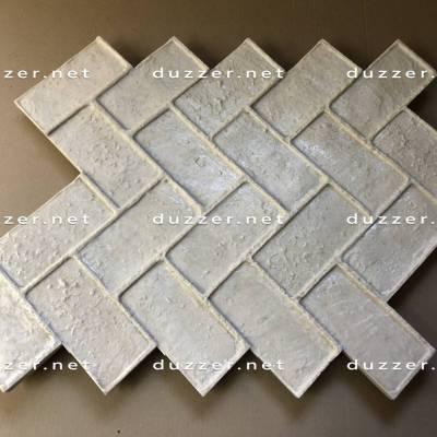 Concrete stamp «Brick herrringbone»